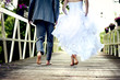 canvas print picture - Beautiful wedding couple