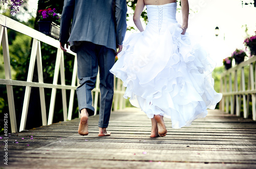 canvas print picture Beautiful wedding couple