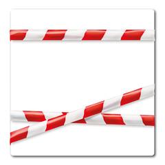 Flatterband rot weiß
