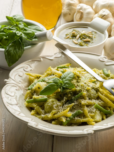 pesto trofie typical genoa recipe