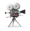 Old style movie camera