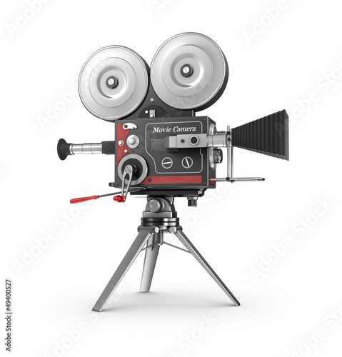 Old style movie camera