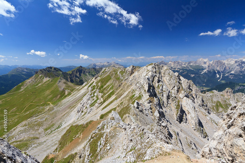 Dolomiti - Lastei ridge and Selle pass