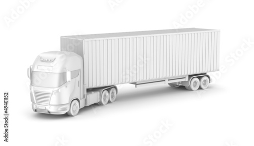 Truck with container. Blank. My own design.