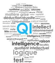 """Nuage de Tags """"QI"""" (intelligence cerveau test logique génie)"""