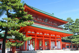 Heian Shrine, Kyoto, Japan..