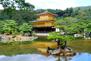 Kinkakuji - The Golden Pavillion, Kyoto, Japan..