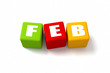February Colored Cubes