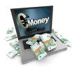 Online money, euros