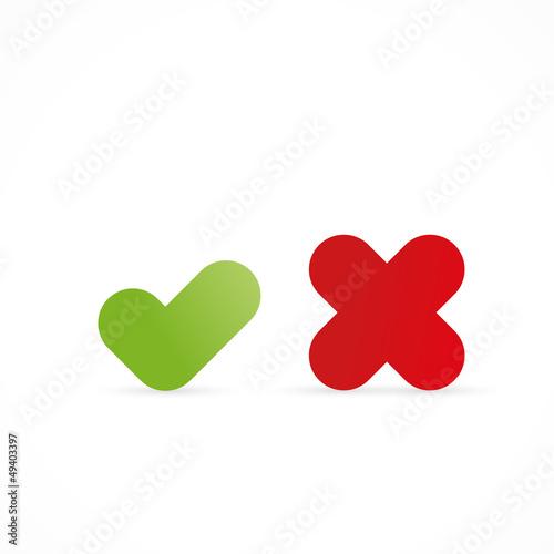 icône validation/annulation