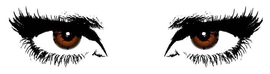 women's brown eyes