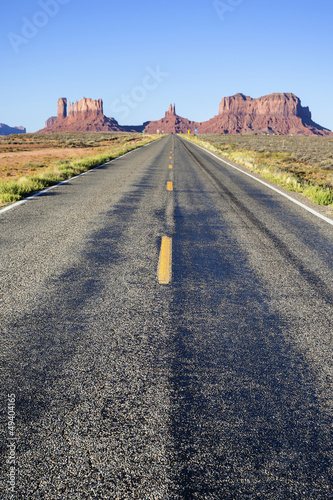 Famous long Road to the Monument Valley