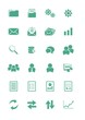 back office icon sets - green