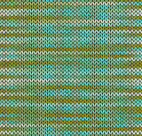 Style Seamless Knitted Pattern. Blue Green White Color Illustrat