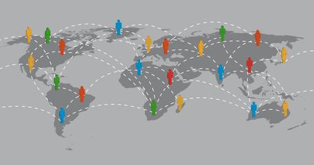 Netzwerke, Kommunikation, Menschen, Komputer