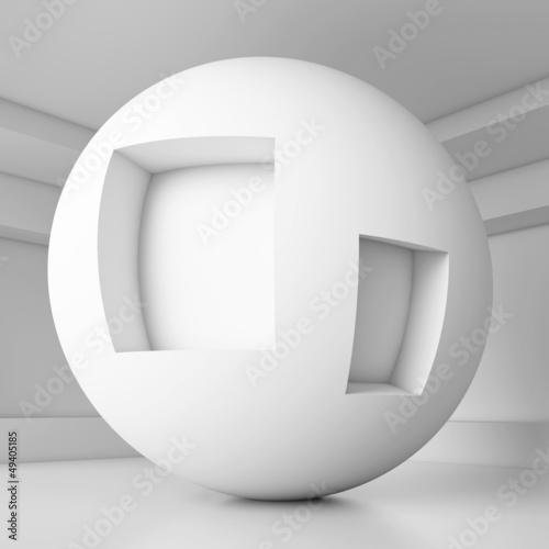 White Futuristic Interior Design