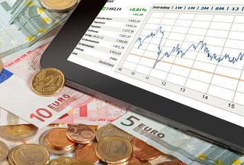 Aktienkurs auf Tabelt PC - Stock index on Tablet PC