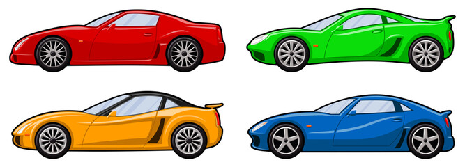 Four Sports Cars