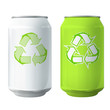 Tin with recycling icon. Vector design.