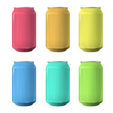 Fototapety Colorful tin. Vector design