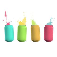 Colorful tin con drop background. Vector design