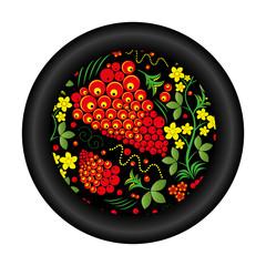 Plate pattern Khokhloma