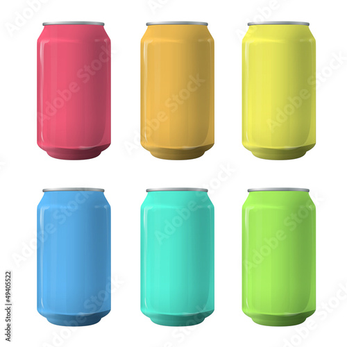 Colorful tin. Vector design