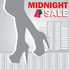 Midnight sale shopping girl