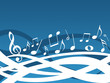 Music background - blue and white