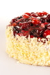 Almond cake with red berries dessert