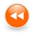 scroll orange circle glossy web icon on white background