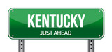 green Kentucky, USA street sign