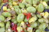 Edamame Soy Bean Salad up Close