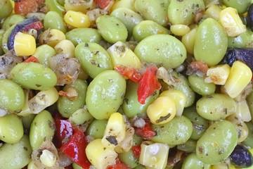 Edamame Soy Bean Salad up Close