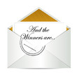 Award winners envelope