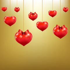 Hearts With Red Bows