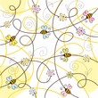 Abstract background with bee