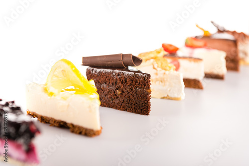 Slice cake selection delicious sweet tart