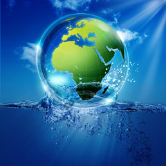Save the world. Abstract environmental backgrounds for your desi