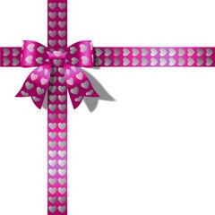 Herz Schleifenband pink