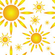 Seamless pattern with sun
