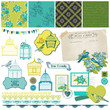 Birds and Birdcages Collection -for design or scrap -vector