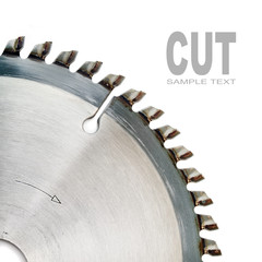 The circular saw close up with space for your text.