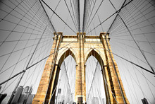 Le pont de Brooklyn, New York. Etats-Unis.