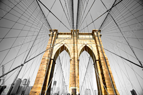 Zdjęcia na płótnie, fototapety, obrazy : The Brooklyn bridge, New York City. USA.