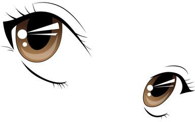 Manga Augen Vektor