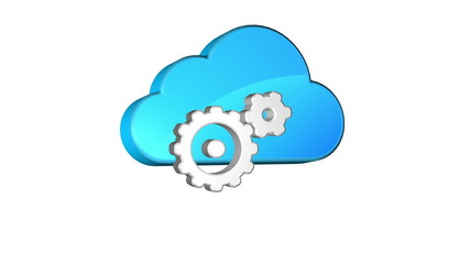 Icon of adjusting of cloud storage, Seamless looping.
