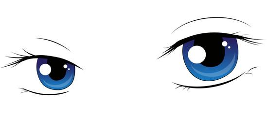 Manga Augen sanft