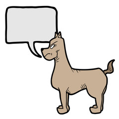 Dog talking