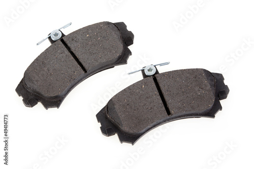 Brake shoes on a white background